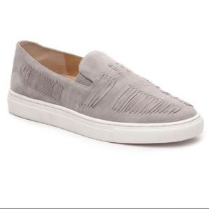 Vince Camuto Beyza Suede Grey Slip On Sneakers
